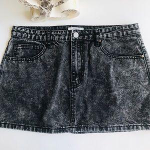 🔥 3 for $25 Forever 21 Jean skirt acid wash black